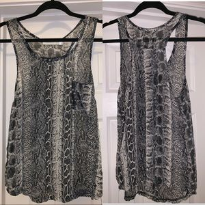 Costa Blanca Tops - Snakeskin Sheer Tank